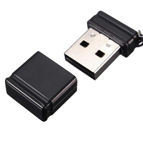USB Sticks, IMJONO 4GB 8GB 16GB 32GB 64GB USB 2.0 Schwarz Mini Flash Laufwerk Speicher stick Thumb U Scheibe (4GB, Schwarz) (Drei Line-taste)