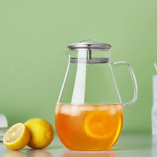 Hitzebeständige Glas Teekanne Hochtemperatur Kaltwasser Wasserkocher Teekanne Fruchtsaft Große Kapazität Glas Wasserkocher 2L GAODUZI - Hitzebeständiges Glas Teekanne