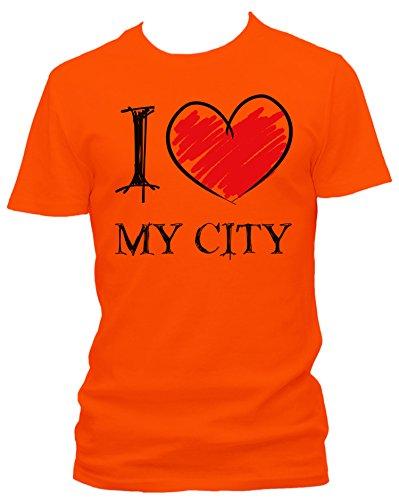 I Love My City Fun Herren T-Shirt_orange_XXL