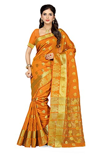 Rani Saahiba Zari Woven Chanderi Art Silk Saree(Gold_SKR2361)