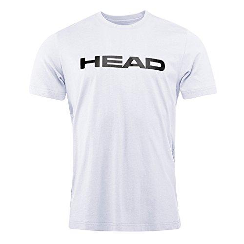 HEAD Herren Ivan T-Shirt, Weiß/Schwarz, Large