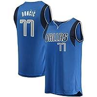 AJSPORT Bordada Aficionados Mavericks Camisa Doncic Jersey para Hombrede (Azul, S)