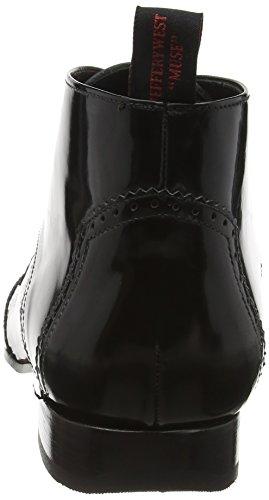 Jeffrey West J698 Escobar, Bottes Classiques homme Black (College Black/Burgundy)