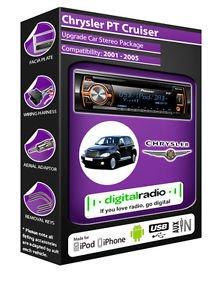 Chrysler PT Cruiser DAB Radio KFZ Stereo Pioneer deh-4700dab gratis DAB Antenne Pt Cruiser Stereo