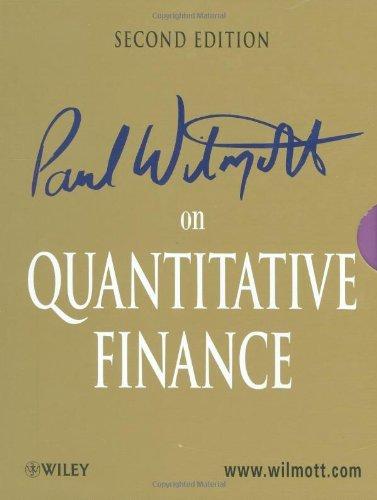 Paul Wilmott on Quantitative Finance 2nd Edition by Wilmott, Paul (January 20, 2006) Hardcover