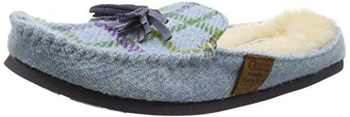 Bedroom AthleticsCharlotte - Pantofole donna Blu (Blue (Light Blue Check))