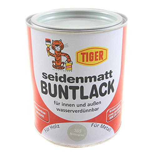 Acryllack Tiger Buntlack silbergrau 385 seidenmatt 0,75l