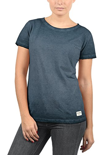 DESIRES Karin Damen T-Shirt Kurzarm Shirt Mit Rundhalsausschnitt Aus 100% Baumwolle, Größe:XS, Farbe:Insignia Blue (1991) -