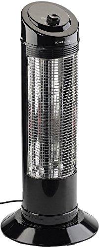 Sichler Haushaltsgeräte Heizstrahlersäule mit Oszillation, 600/1.200 W Infrarot-Rubinröhre