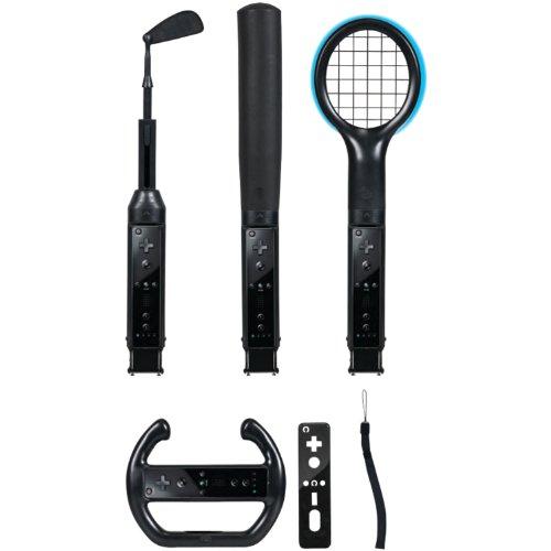 Wii Grand Slam 6 in 1 Sports Pack für Wii in Schwarz -