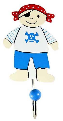 Baby or Kinder Blau Pirat Kleiderhaken Wandhaken für Jungen Schlafzimmer oder Kinderzimmer (Blue Pirat Mantel)