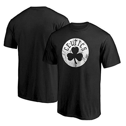 QAZ Herren Boston Celtics T-Shirt Jersey Sommer NBA,Black-L -