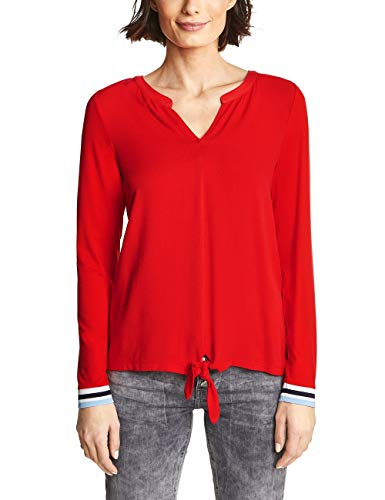 Street One Damen Langarmshirt 313125 Pamina hot orange 40