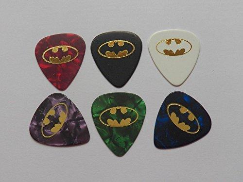 batman-set-of-6-celluloide-oro-stampa-nome-personalizzato-plettro-per-chitarra-set-1