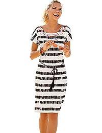 878384b578745 VENCA Vestido Bordado étnico en el Escote Mujer by Vencastyle - 023492