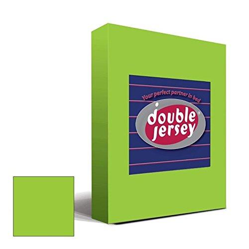 Double Jersey - Spannbettlaken 100% Baumwolle Jersey-Stretch bettlaken, Ultra Weich und Bügelfrei mit bis zu 30cm Stehghöhe, 160x200x30 Lime - 2