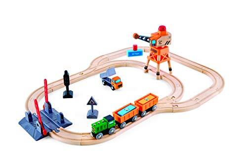 Hape E3732 Bahnübergang & Kran-Set Eisenbahnwelt