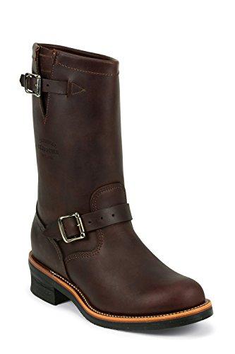 Chippewa 1901M49 cuir homme boots bottes marron-oil, cordovan tanned v-bar liège avec semelle vibram Marron - Marron