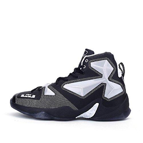 Herren Mode Basketball Schuhe Rutschfest Sportschuhe Laufschuhe Ausbilder Turnschuhe EUR GRÖSSE 39-44 , black , 44