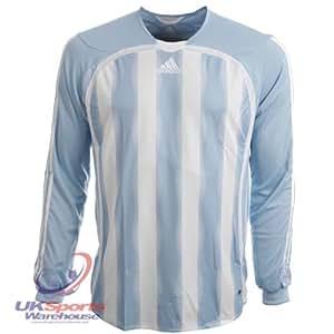 adidas Aquilla Climacool Long Sleeved Football Shirt Jersey rrp£25 Blue/White