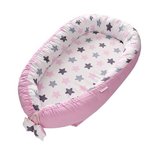 Lit de bébé, lit de bébé nouveau-né, lit d'enfant Bionic lavable de lit de couverture de dormeur d'enfant de voyage, lit de nid portable(étoile rouge)