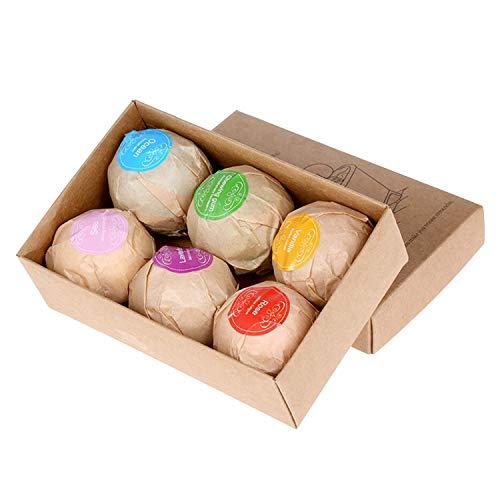 6pcs différent parfum naturel Spa Bath Bombs Ball Set pour copines femmes mamans Noël anniversaire Nouvel An cadeaux style aléatoire