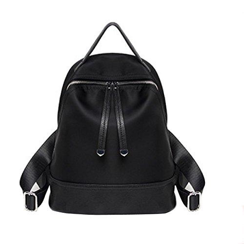 Donna Oxford Cloth Borsa A Tracolla Canvas Zaino Casual Borsa Da Viaggio Black