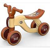 Laufräder Baby-Balance Fahrrad,Scooter Gleitenden Schritt Spielzeug Kein Pedal Walker 1-3 Jahre alt-braun 20.5inch