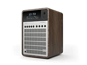 Revo Super Signal Deluxe DAB Table Radio with DAB/DAB+/FM Reception, Digital Alarm and Bluetooth Wireless Streaming - Walnut/Silver