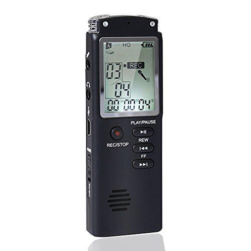 8GB Digitales Diktiergerät 1536kbps,ZOTO USB Digitalrecorder Diktiergerät Audio Voice Recorder,Aufnahmegerät mit LCD Display MP3 Player Spracherkennung Lautsprecher für Büro Schule Interviews
