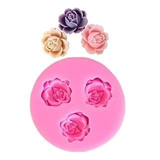 Allforhome 3 Cavities 1.8cm Mini Flower Sculpting Silicone Sugar Resin Craft DIY Moulds gum paste Cake Decorating Fondant Mold