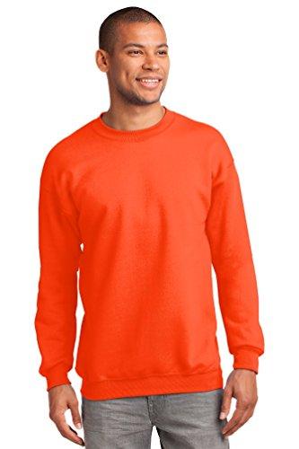 Port & Company® - Essential Fleece Crewneck Sweatshirt. PC90 Safety Orange 3XL