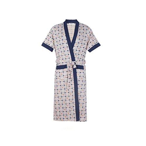 Bathrobe GAOLILI Summer Middle-aged Men\'s Dressing Gowns Cardigan ...