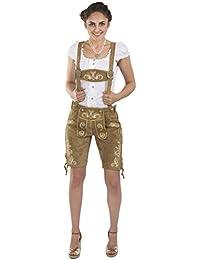 Schöneberger Trachten Damen Lederhose Wiesnzauber - elegante mittellange Trachtenlederhose