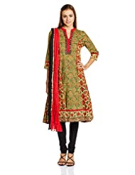 Rain And Rainbow Women's Anarkali Salwar Suit - B00UL1TFJA