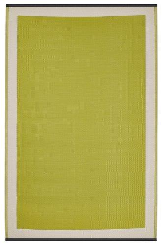 Fab Habitat - Tappeto per interni ed esterni, colore: Verde/bianco,