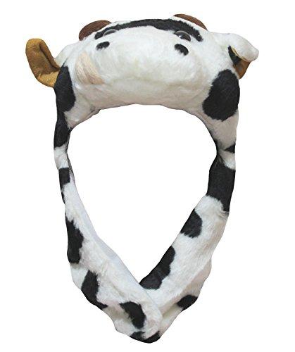 petitebelle Milch Kuh hat Unisex Halloween Up Party Kleid Kostüm für Kinder Gr. One size, weiß