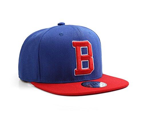 Letter B Name Initial Unisex Snapback Baseball Cap by True Heads