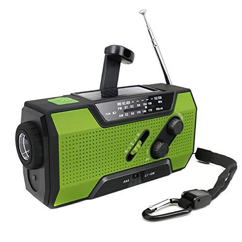 lzndeal Lampe Torche Multifonctionnel d'urgence de Radio à l'air Libre avec Fournitures de manivelle Solaire à l'air Libre