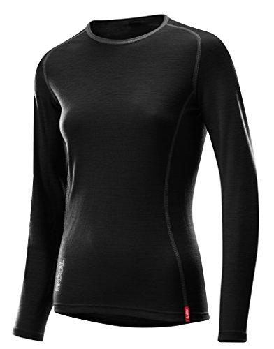 Löffler Damen Unterhemd Shirt Transtex Merino La, schwarz, 40, 17657 (Thermo-unterwäsche Polypropylen)