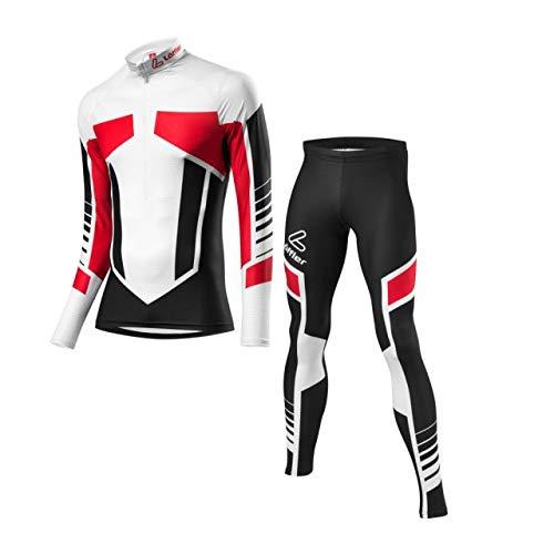 LÖFFLER Woldcup Skiing Racing Suit Kids - Black-red