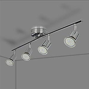 LED Deckenleuchte Schwenkbar inkl, 4 x 5W GU10 IP20 LED Strahler Deckenlampe Spots Wohnzimmerlampe Deckenspot LED…