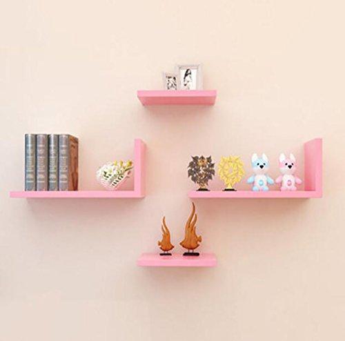 6-panel-massivholz (Cdbl-Wand Bücherregal Kreatives Fachregal, Wohnzimmerhintergrund-Wandregal, Fernsehregal-Bücherregal, Wandregal Regal ( Farbe : 6* ))