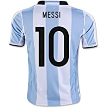UEFA Euro 2016 2017 Argentina 10 Tazza Lionel Messi National Football Soccer Jersey Home, colore: bianco