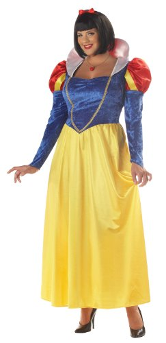 Zwerge Womens Kostüm 7 - Classic Snow White Costume (Plus Size) - Dress 20 to 22