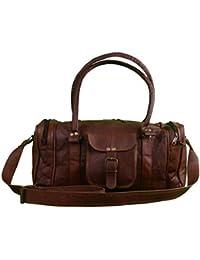 NeoFeral 100% Original Leather Duffle Cum Gym Bags, Travel Duffel Bags For Men/Women/Girls/unisex Craft 48