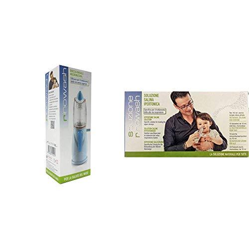 Air Liquide 471221 Rinowash Doccia Nasale per il Lavaggio delle Vie Aeree Nasali + Soluzione Salina Ipertonica