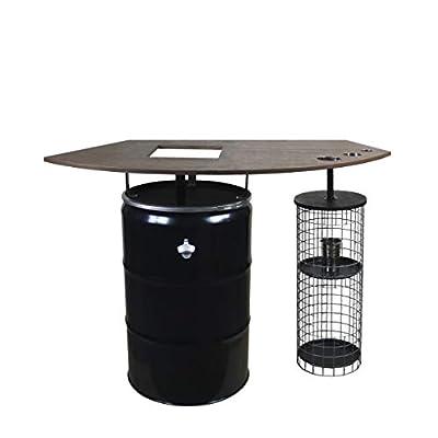 Rogge´s RelaxGrill Grilltisch CAGE Stehtisch mit integriertem Edelstahlgrill