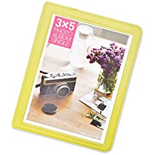 DSstyles Álbum de fotos Libro de fotos de 32 bolsillos Mini álbum libro para Fujifilm Instax Wide 300, Wide 210, Wide 200 Fotos - Verde