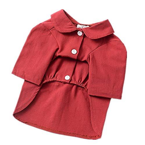 PZSSXDZW Haustierhundekleidung 2019 Frühling und Sommer Freizeithemd Hundekleidung Teddy Welpenkostüm,rot,XS (Der Supplies Prinzessin Frosch-party Und)